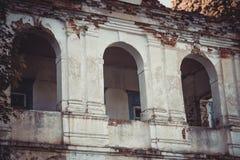 Ruínas da casa velha do tijolo de Tomasz Wawzecki Vila de Vidzy Foto de Stock Royalty Free