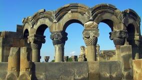 Ruínas da catedral de Zvartnots imagens de stock royalty free