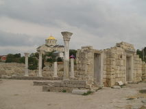 Ruínas da catedral em Hersones, Crimeia, Imagem de Stock