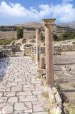 Ruínas da cidade antiga, cargo de mármore, Macedônia imagem de stock