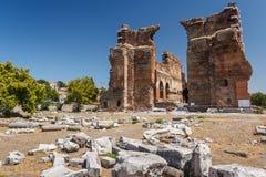Ruínas da cidade antiga de Pergamon Fotografia de Stock Royalty Free