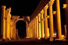 Ruínas da cidade antiga do Palmyra - Síria Fotografia de Stock Royalty Free