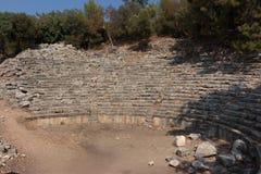 Ruínas da cidade antiga em Phaselis Fotografia de Stock Royalty Free