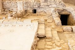Ruínas da cidade antiga Kourion em Chipre Foto de Stock