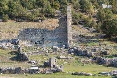 Ruínas da cidade antiga Olba, província de Mersin Fotos de Stock Royalty Free