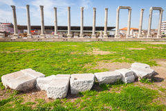 Ruínas da cidade antiga Smyrna Izmir, Turquia Fotografia de Stock Royalty Free
