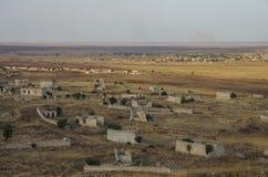 Ruínas da cidade de Agdam em Nagorno Karabakh Republic Azerbaijão - A Foto de Stock