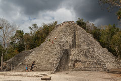 Ruínas da cidade maia antiga de Coba Imagem de Stock