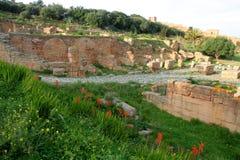 Ruínas da cidade romana em Rabat Imagens de Stock Royalty Free