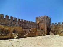 Ruínas da cidade velha em Grécia - escavação arqueológico Fotos de Stock Royalty Free