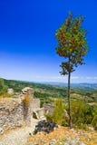 Ruínas da cidade velha em Mystras, Greece Fotografia de Stock