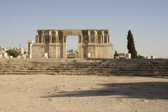 Ruínas da citadela de Amman Fotos de Stock