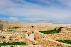Ruínas da citadela em Victoria, Gozo Fotos de Stock Royalty Free