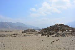 Ruínas da civilização de Caral-Supe, Peru Imagem de Stock