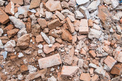 Ruínas da entulho do tijolo Imagens de Stock