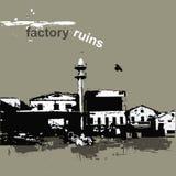 Ruínas da fábrica ilustração stock