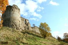 Ruínas da fortaleza Foto de Stock Royalty Free