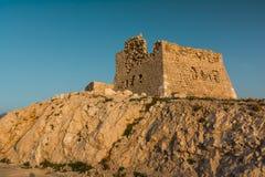 Ruínas da fortaleza Imagem de Stock