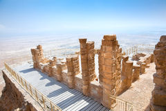 Ruínas da fortaleza antiga Masada, Israel Fotografia de Stock Royalty Free
