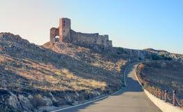 Ruínas da fortaleza de Enisala, Romênia Imagens de Stock Royalty Free