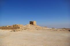 Ruínas da fortaleza de Masada Foto de Stock Royalty Free