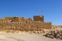 Ruínas da fortaleza de Masada Imagem de Stock Royalty Free