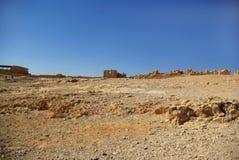 Ruínas da fortaleza de Masada Imagens de Stock