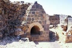 Ruínas da fortaleza do século XII do Hospitallers - o Belvoir - o Jordan Star - em Jordan Star National Park perto da cidade de A fotos de stock