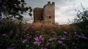Ruínas da fortaleza Genoese em Feodosia, Crimeia Imagem de Stock Royalty Free