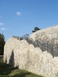 Ruínas da fortaleza medieval em Drobeta Turnu Severin Fotos de Stock