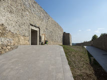 Ruínas da fortaleza medieval em Drobeta Turnu Severin Fotos de Stock Royalty Free