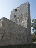 Ruínas da fortaleza medieval em Drobeta Turnu Severin Imagens de Stock Royalty Free