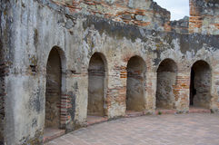 Ruínas da Guatemala de Antígua, convento fotos de stock
