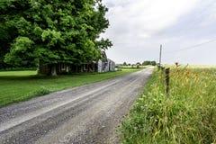 Ruínas da herdade em uma estrada secundária de Alabama foto de stock