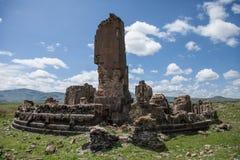 Ruínas da igreja, ani, peru imagens de stock royalty free