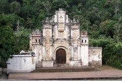 Ruínas da igreja de Antígua guatemala, ruínas de Santa Cruz do la de Ermita de do La Fotografia de Stock