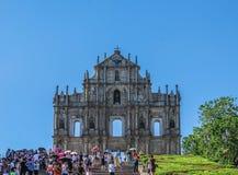 Ruínas da igreja do ` s de Saint Paul imagem de stock royalty free