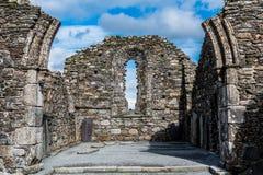 Ruínas da igreja do St Kevins Foto de Stock Royalty Free