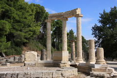 Ruínas da Olympia de Greece da Olympia foto de stock