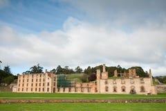 Ruínas da penitenciária na cadeia histórica do Port Arthur Fotos de Stock Royalty Free