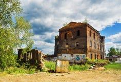 Ruínas da planta metalúrgica velha Fotos de Stock Royalty Free