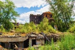 Ruínas da planta metalúrgica velha Imagem de Stock Royalty Free