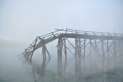Ruínas da ponte Fotografia de Stock