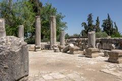 Ruínas da sinagoga antiga fotos de stock royalty free