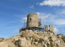 Ruínas da torre antiga Fotografia de Stock Royalty Free