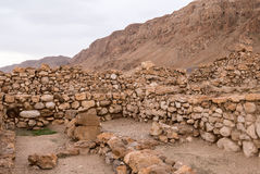 Ruínas das moradias de Qumran fotografia de stock