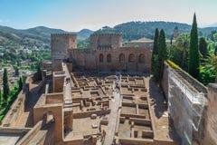Ruínas de Alhambra Imagem de Stock