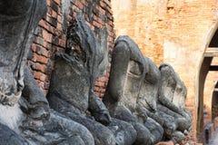 Ruínas de Ayutthaya, Tailândia Fotos de Stock Royalty Free