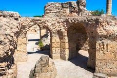 Ruínas de banhos de Antonine em Carthage, Tunísia Fotografia de Stock