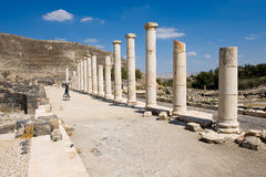 Ruínas de Beit She ' Fotografia de Stock